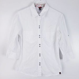 The North Face White Button-Down Blouse Medium